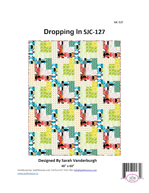 Dropping In quilt pattern Good Vibes fabric sew along quilt along