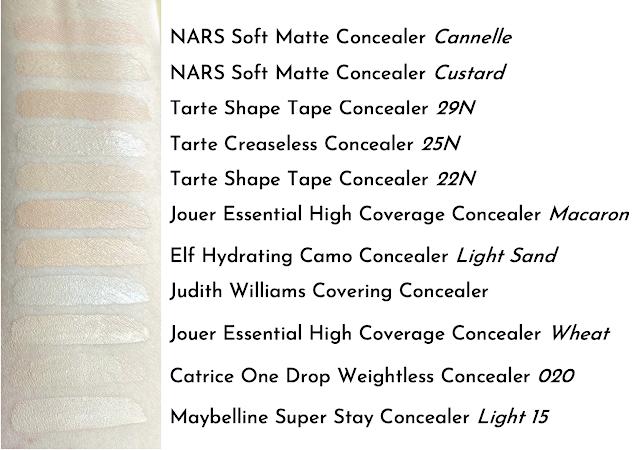 Concealer Swatch NARS Tarte Maybelline Catrice Jouer Elf Judith Williams