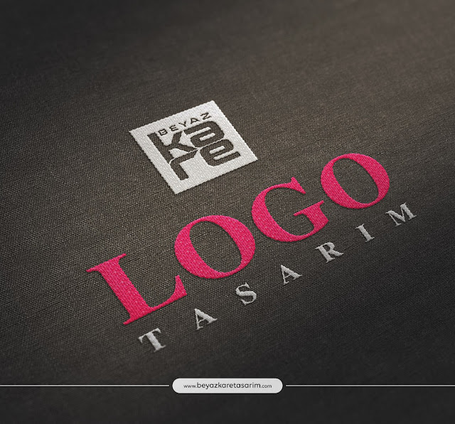 3D logo tasarımı kumaş dikiş efekti