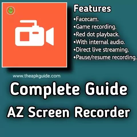 Complete Guide of AZ Screen Recorder APK   Record Zoom Meeting   Record Whatsapp Video Call