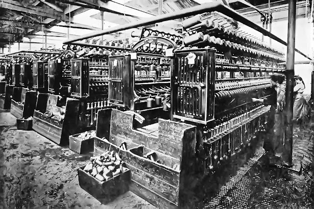Ainsworth's Cleator Flax Mill Spinning Room, C1900