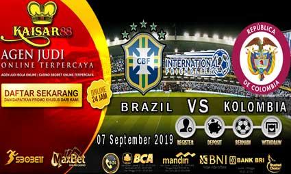 PREDIKSI BOLA TERPERCAYA BRAZIL VS KOLOMBIA 07 SEPTEMBER 2019
