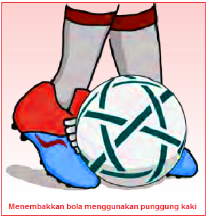 Menembakkan bola menggunakan punggung kaki