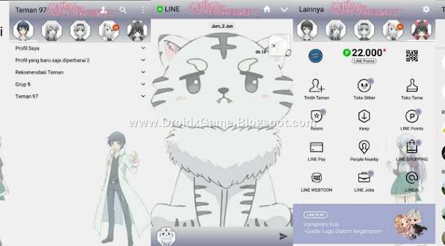 Download Tema Line Anime ISEKAI WA SMARTPHONE