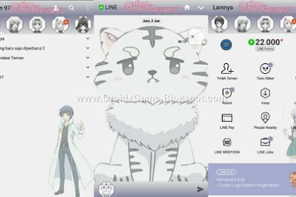Download Tema Line Anime ISEKAI WA SMARTPHONE