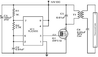 schematic emergency lamp