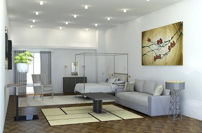 camera-soggiorno-arredamento-letto-tavolo