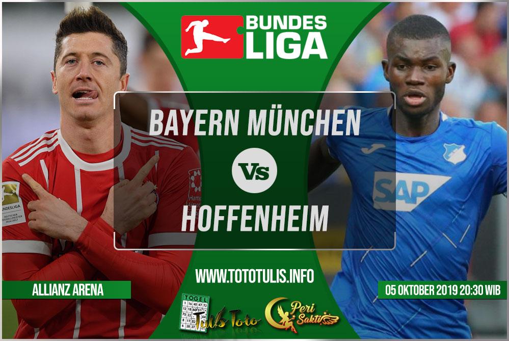 Prediksi Bayern München vs Hoffenheim 05 Oktober 2019