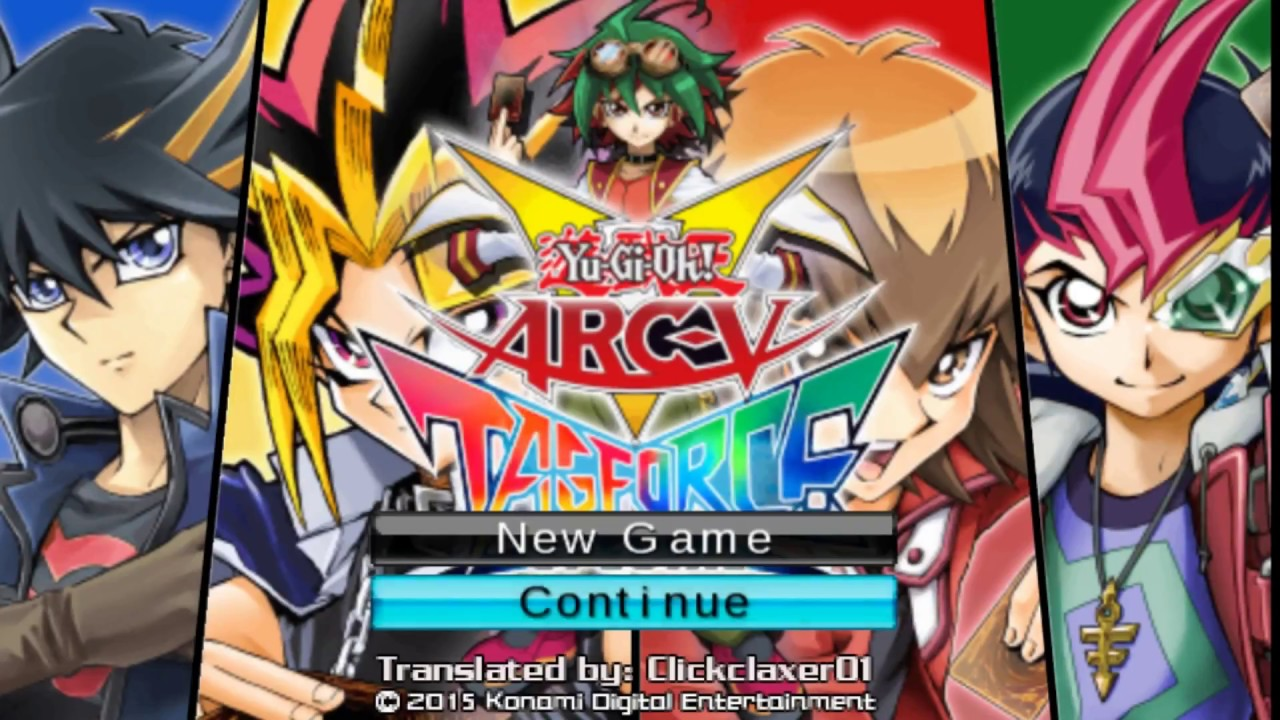 yugioh arcv tag force special  english patched psp