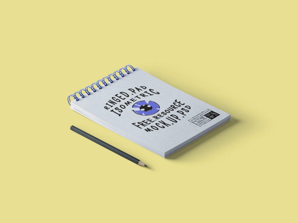 free notepad mockup psd
