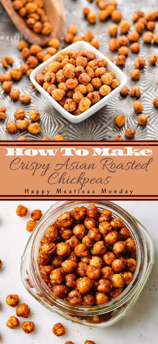 Crispy Asian Roasted Chickpeas #vegan #vegetarian #soup #breakfast #lunch