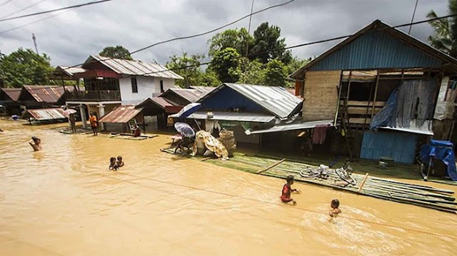 Banjir Besar Hantam Kalsel, Ribuan Rumah Terendam,  21.990 Jiwa Terancam