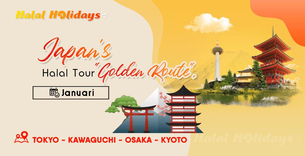 Paket Wisata Halal Tour Jepang Tokyo Osaka Kyoto Januari 2021