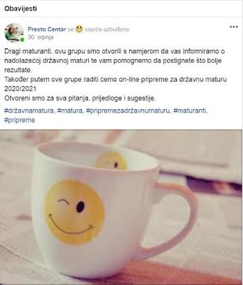 Facebook grupa za maturante