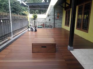 Project lantai kayu outdoor Jakarta