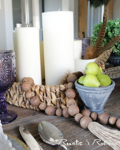 Simple and beautiful table centerpiece