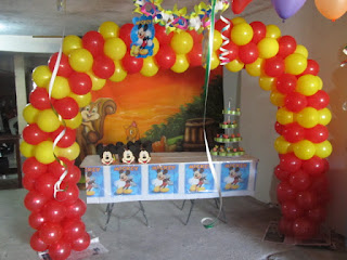 DECORACION MICKEY MOUSE 5 FIESTAS INFANTILES RECREACIONISTAS MEDELLIN
