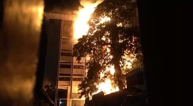 Kebakaran Gedung Kejaksaan Agung Membesar, Ruang Kerja Jaksa Agung Terbakar