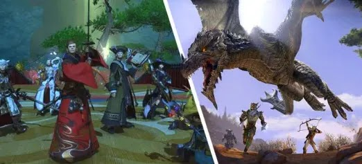 Elder Scrolls Online,MMO,Final Fantasy XIV