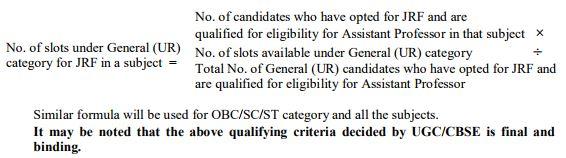 image : UGC NET JRF Qualifying Criteria & Formula 2017 @ cbse-net.in