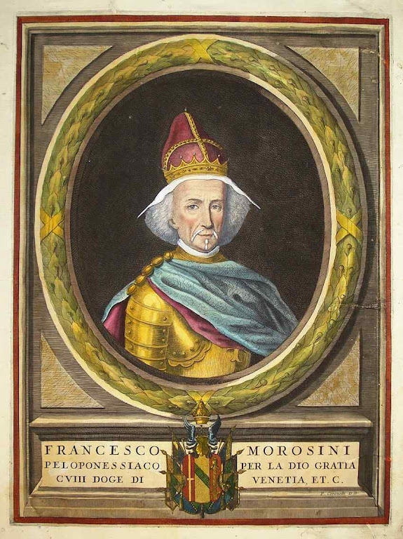 Francesco Morosini, Doge de Veneza. Vincenzo Maria Coronelli (1650 – 1718).