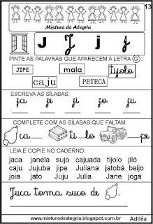 Livro famílias silábicas letra J