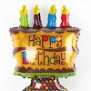 Balon Foil Happy Birthday Cake Coklat Mini