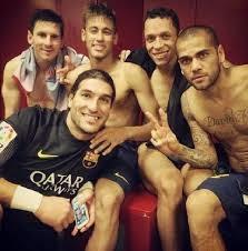 Pemain Barcelona Bugil di Ruang Ganti