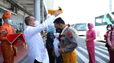 Forkopimda Sumut Sambut Kedatangan Kapoldasu Irjen Pol Panca Putra di Bandara Kualanamu