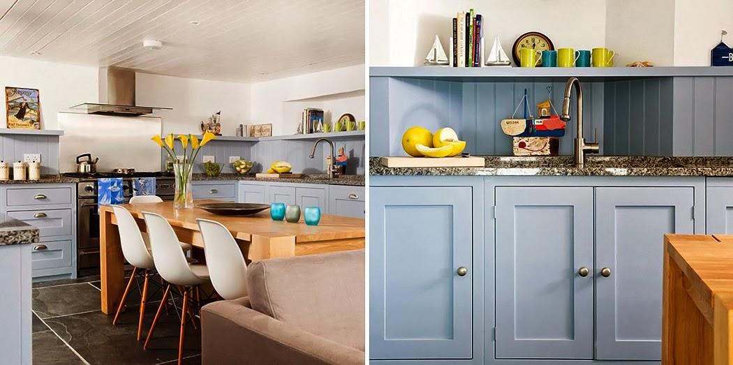 mobiliario cocina azul