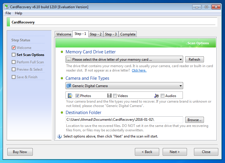 card recovery 6.10 with registration key