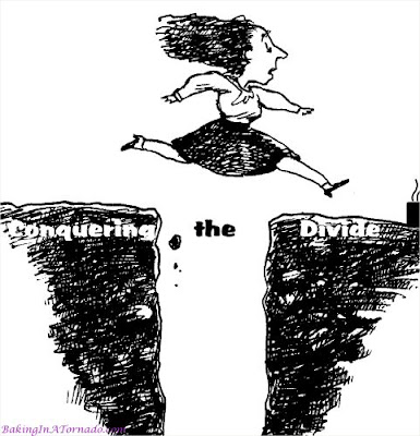 Conquering the Divide. | Graphic created by and property of www.BakingInATornado.com | #MyGraphics #humor