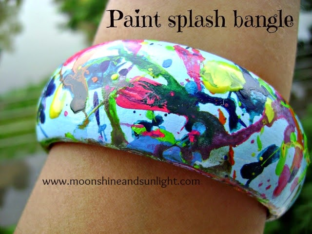 Indian DIY and craft blog : Paint splash bangle step by step tutorial | Moonshine and Sunlight