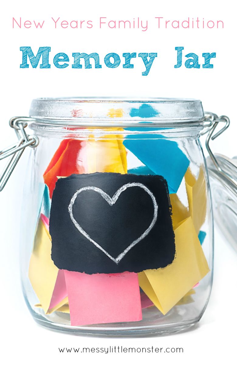 Make a New Years memory jar or  time capsule and start a new family tradition. New years activities for kids