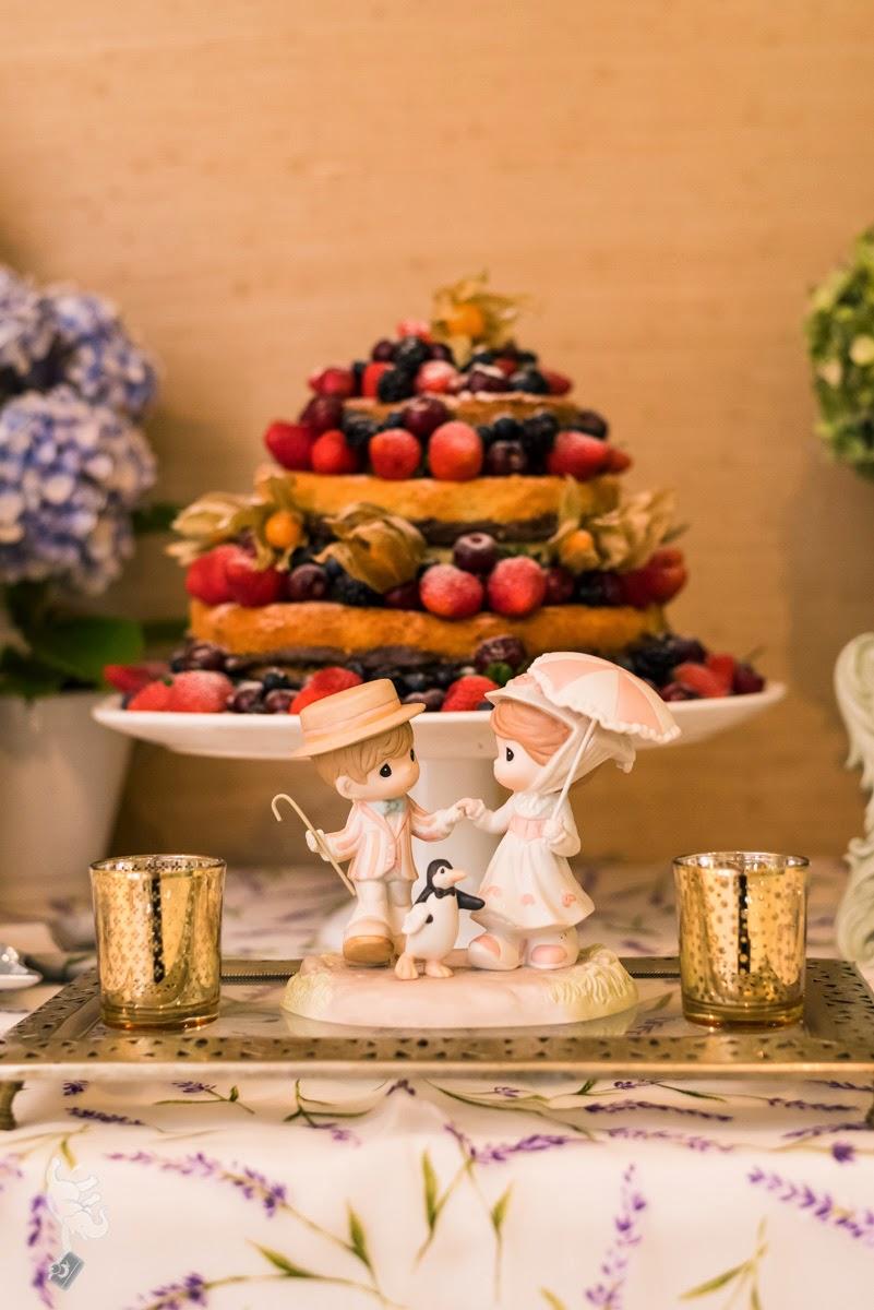 Noivado real surpresa decoração diy mesa do bolo naked cake topo do bolo noivinhos