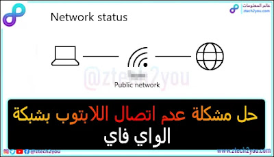 حل-مشكلة-عدم-اتصال-اللابتوب-بشبكة-الواي فاي-WiFi