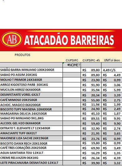 Comercial Dias agora é ATACADÃO BARREIRAS, confira as ofertas