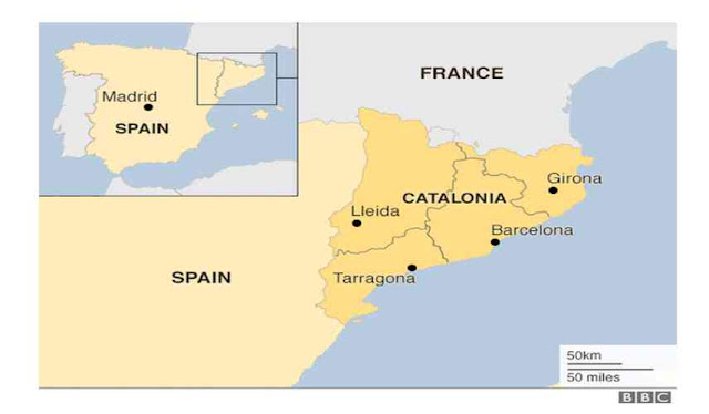Catalonia is a region of which country?