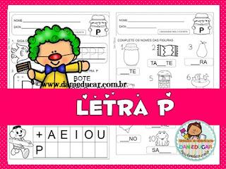 atividades do alfabeto, letra P, Atividades de alfabetização, para imprimir, Atividades para 1º ano,