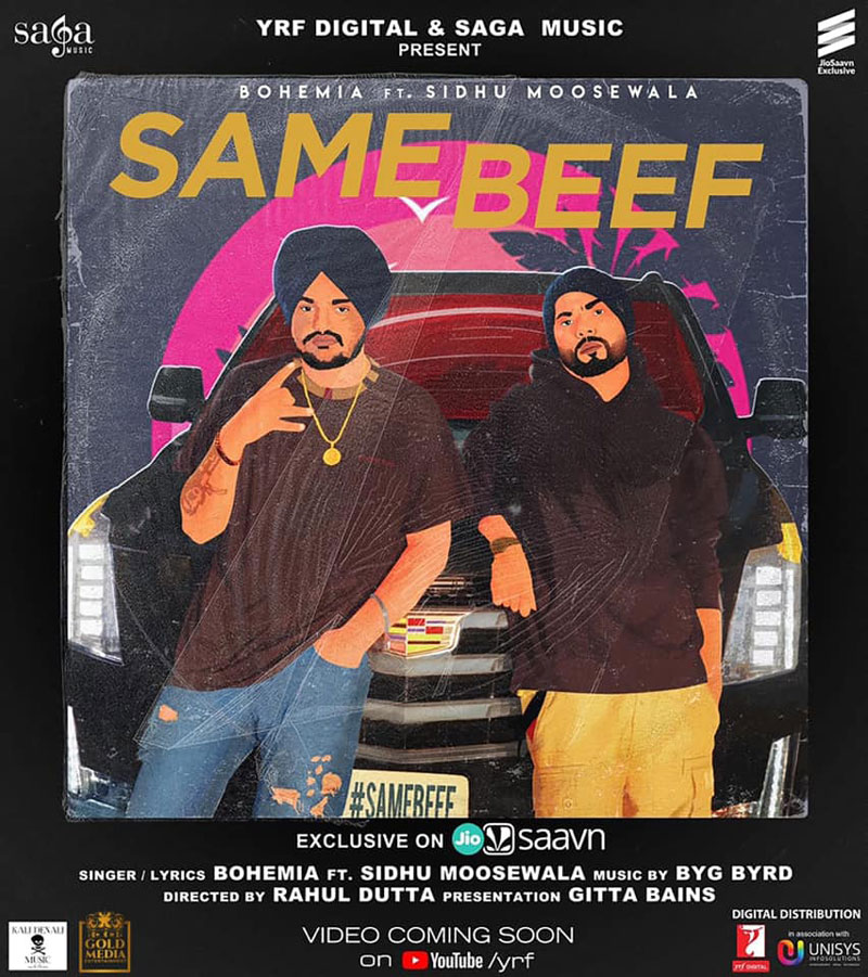 Same Beef Lyrics - Bohemia Ft Sidhu Moosewala New Song 2019