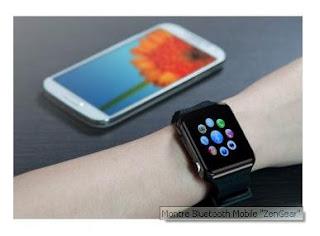 """Bluetooth Watch Mobile """" ZenGear """""""