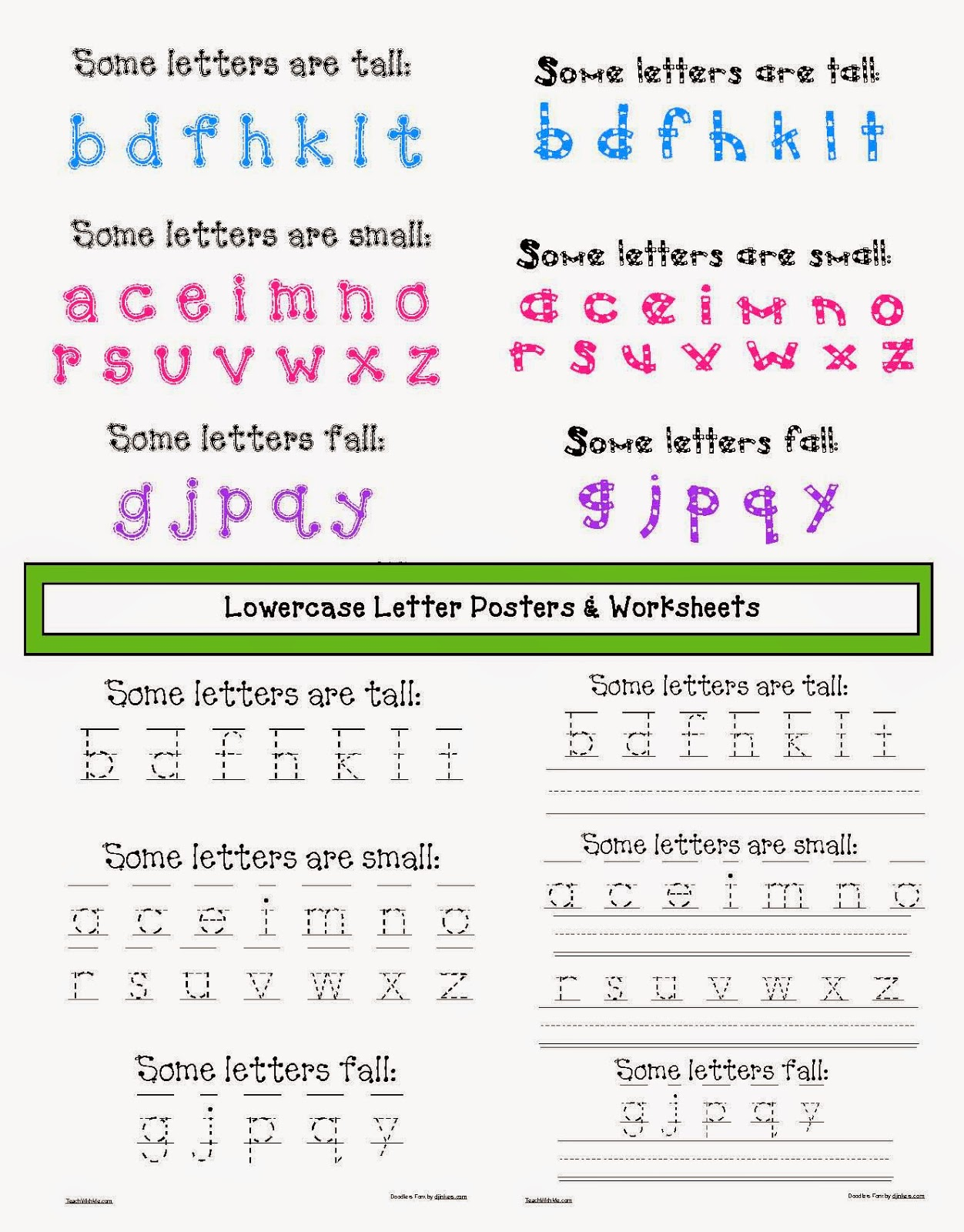 Classroom Freebies Lowercase Letter Anchor Charts And