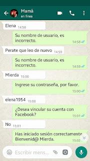 Trolleando a la mamá por Whatsapp