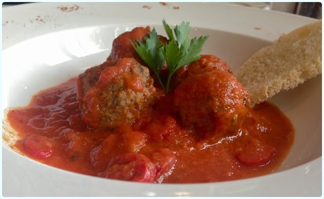 Luciano's at the Millstone, Anderton - Meatballs
