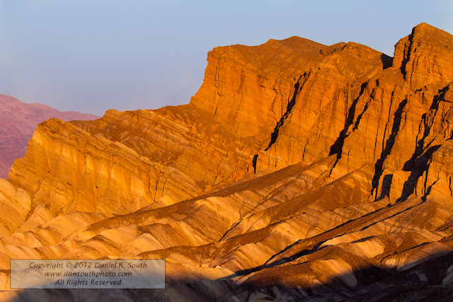 a fine art photograph of eroded badlands from zabriskie point