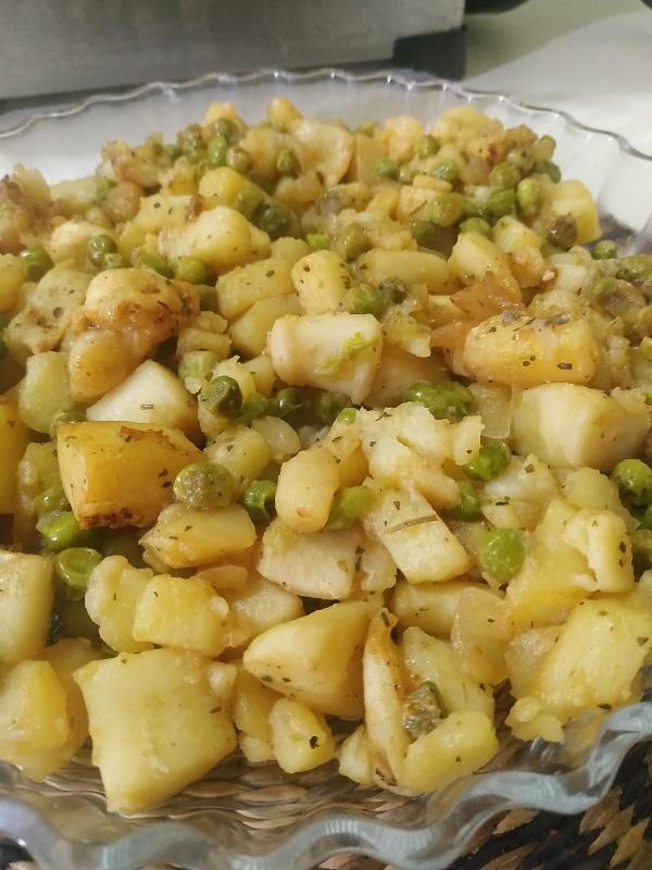 Sepia con patatas al horno