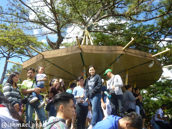 Crowded Observation Deck in Mines View Park of Baguio City