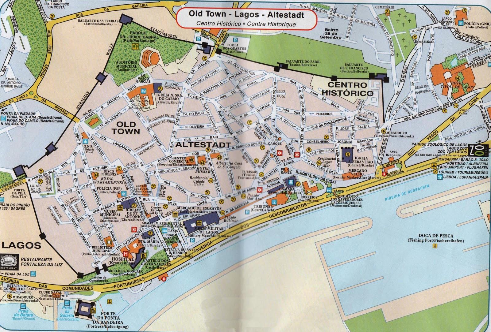 lagos portugal mapa Mapas de Lagos   Portugal | MapasBlog lagos portugal mapa
