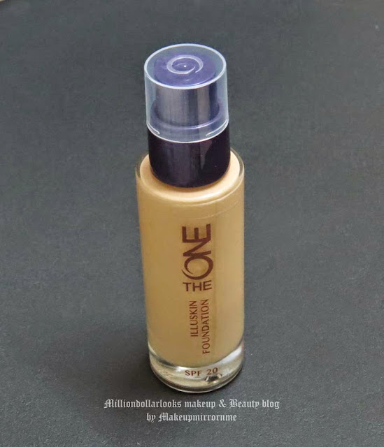 Oriflame The One Illuskin Foundation Natural Beige Review, Pictures & Swatch, Oriflame newly launched The One range, products and review, Drugstore makeup brands in India, Swedish makeup brands in India reviews, Sheer to light coverage foundation, Satin finish foundation, Natural glowy finish foundation, Indian makeup blogger, Product reviews, Indian beauty blog, Indian makeup and beauty blog, http://milliondollarlooks.blogspot.com/ Foundation for medium skin tone, Best affordable foundation in India