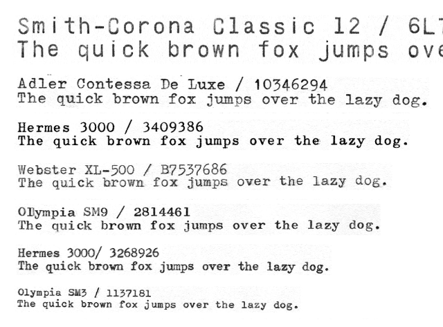 X Over It 100 Typewriter Typefaces Compared